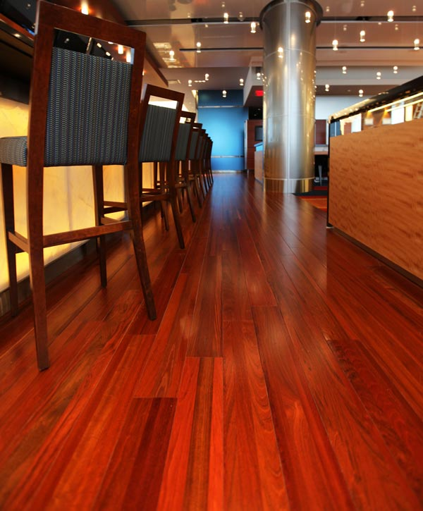 Amazing Recycled Wood Flooring In Montreal Bar Casa Elan Middle East