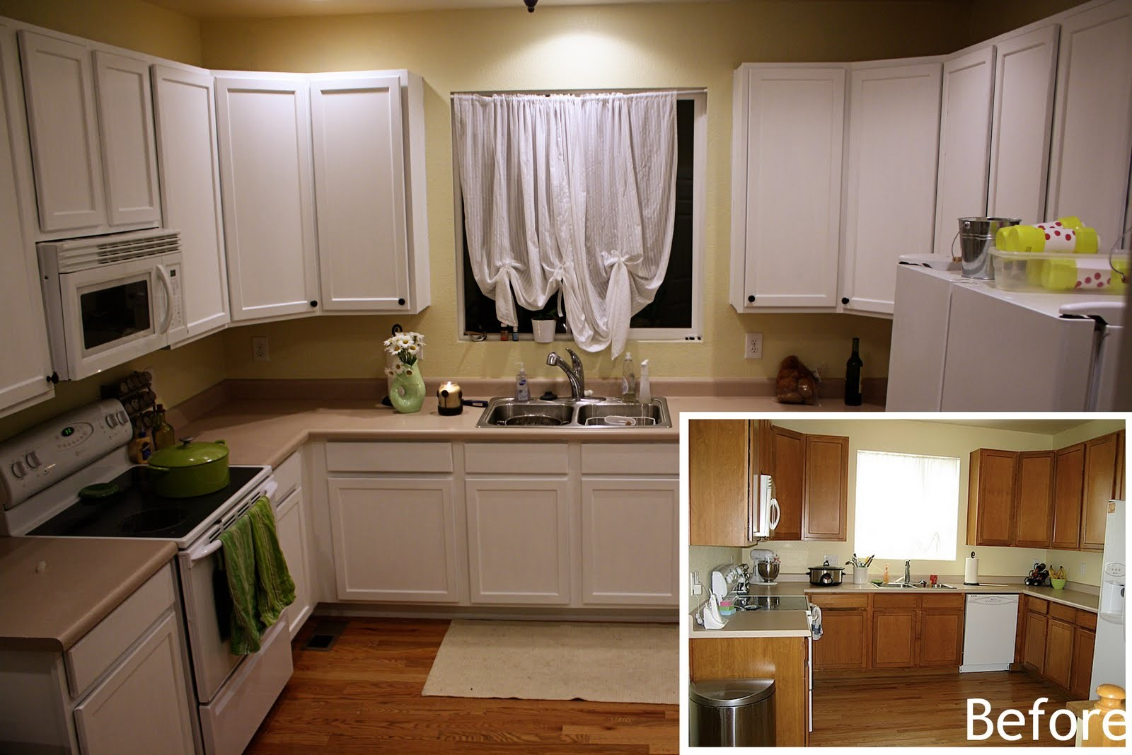 Before and after kitchen remodels on a budget casa elan for Kitchen remodels on a budget